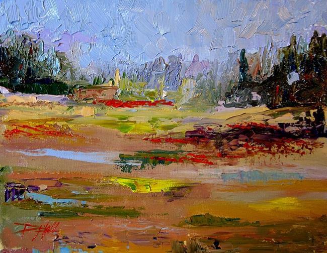 Art: Poppy Landscape by Artist Delilah Smith