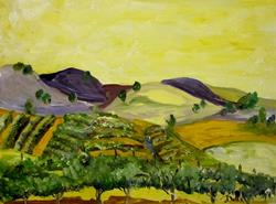 Art: Grapes in the Valley by Artist Delilah Smith
