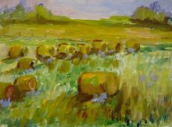 Art: Field of Hay by Artist Delilah Smith