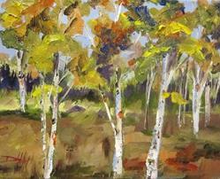 Art: Aspen Trees by Artist Delilah Smith