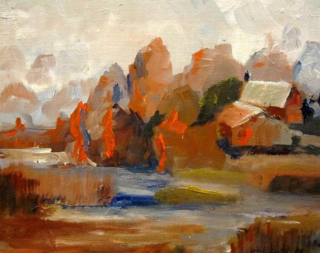 Art: Fields of Orange-sold by Artist Delilah Smith
