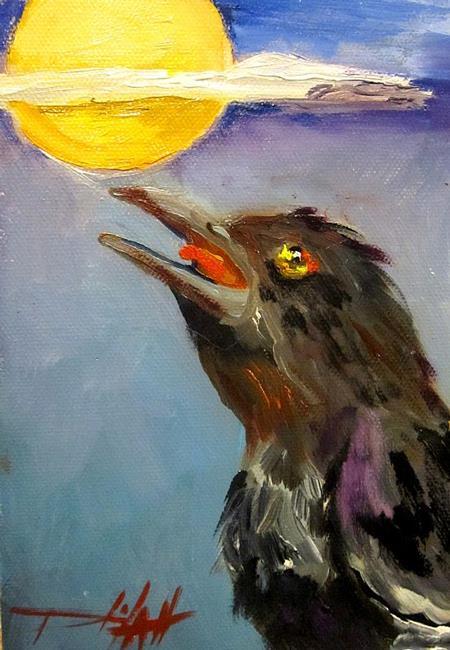 Art: The Raven by Artist Delilah Smith