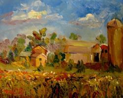 Art: Corn Field by Artist Delilah Smith
