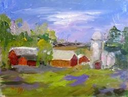Art: Down by the Farm by Artist Delilah Smith