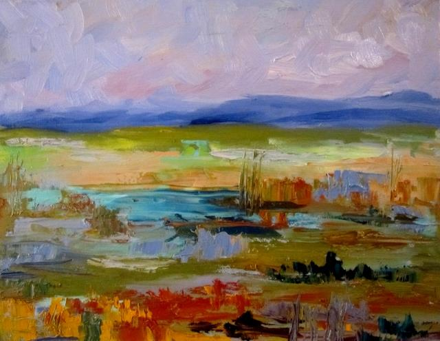 Art: Landscape Impression by Artist Delilah Smith