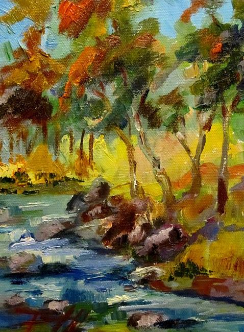 Art: Fall Colors Landscape by Artist Delilah Smith
