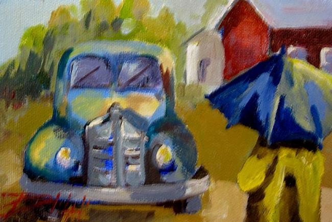 Art: A Walk in the Rain SOLD by Artist Delilah Smith