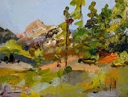 Art: Western Landscape by Artist Delilah Smith