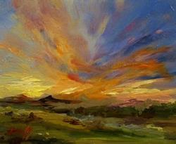 Art: Sunset by Artist Delilah Smith