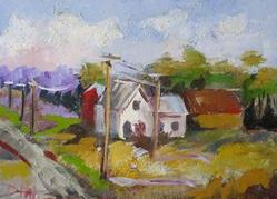 Art: Rural Landscape No.2 by Artist Delilah Smith