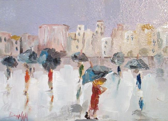 Art: City Rain-sold by Artist Delilah Smith