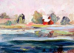 Art: Across the Pond by Artist Delilah Smith