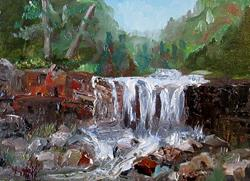Art: Waterfall by Artist Delilah Smith
