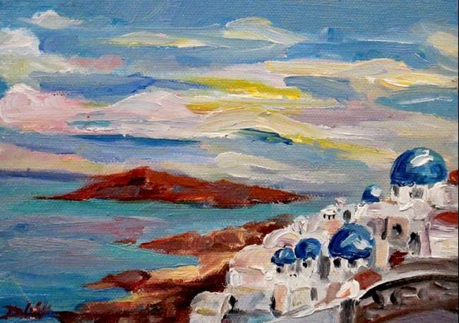 Art: Santorini by Artist Delilah Smith