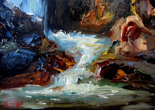 Art: Lower Chasm Falls by Artist Delilah Smith