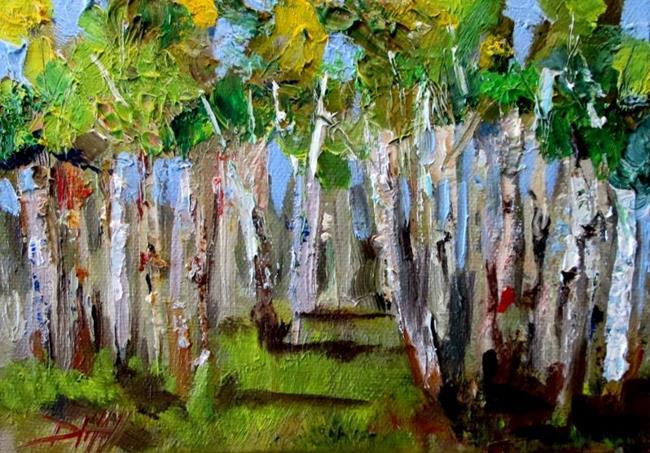 Art: Summer Birch by Artist Delilah Smith