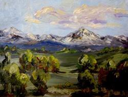 Art: Landscape No. 8 by Artist Delilah Smith