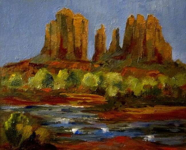 Art: Oak Creek Sedona by Artist Delilah Smith
