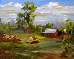 Art: American Landscape by Artist Delilah Smith