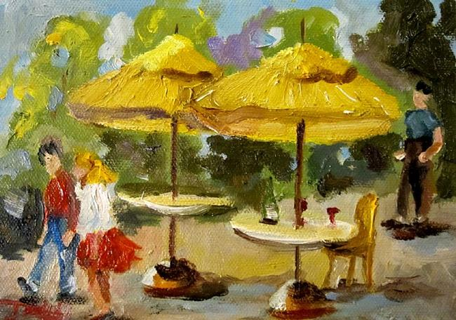 Art: Street Cafe by Artist Delilah Smith