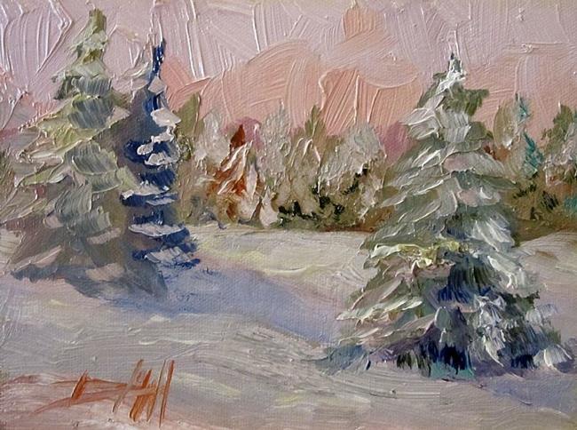 Art: Morning Snow by Artist Delilah Smith