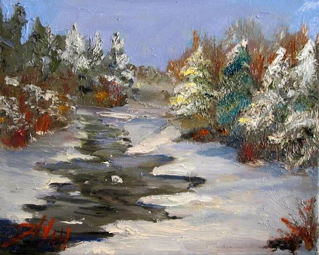 Art: Last Snow by Artist Delilah Smith