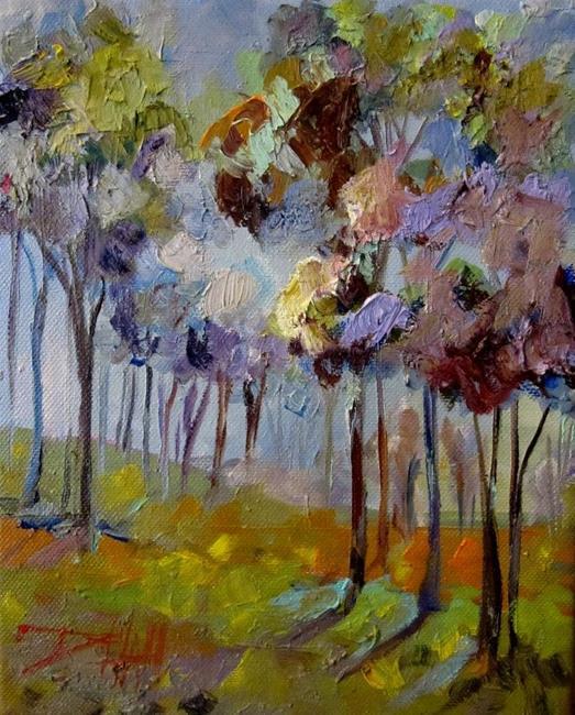 Art: Lavendar Trees by Artist Delilah Smith