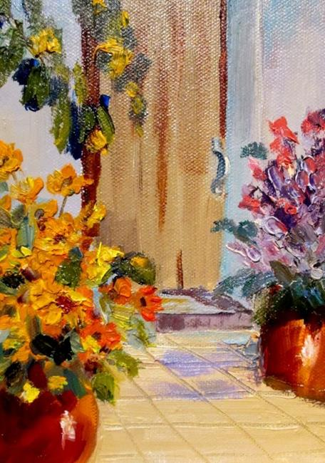 Art: Pot of Flowers=sold by Artist Delilah Smith