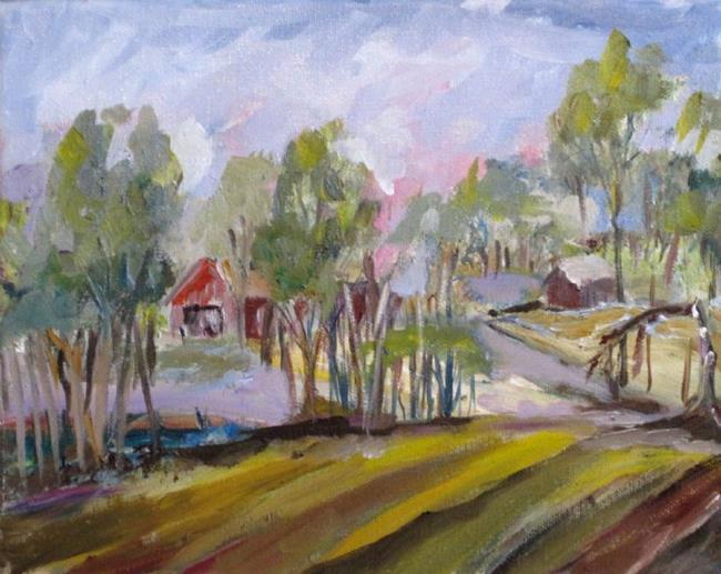 Art: Farm Fields by Artist Delilah Smith