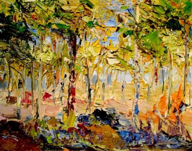 Art: Summer Trees by Artist Delilah Smith