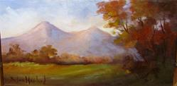 Art: Autumn landscape by Artist Barbara Haviland
