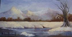 Art: Winter Landscape by Artist Barbara Haviland
