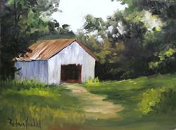 Art: Old Gray Barn by Artist Barbara Haviland