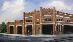 Art: Central Fire Station  by Barbara Haviland by Artist Barbara Haviland
