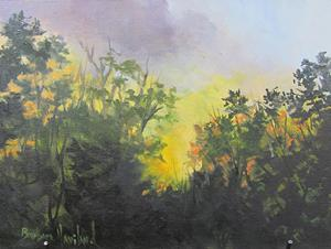 Detail Image for art Early Morning  Sun Coming Up Plein Air