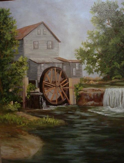 Art: Grist Mill in Tennessee by Artist Barbara Haviland