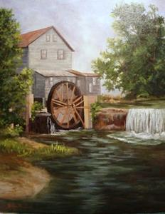 Detail Image for art Grist Mill in Tennessee