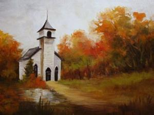 Country Church in Fall by Barbara Haviland from Landscape