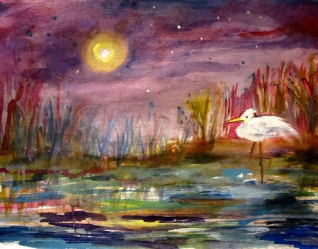 Art: Moon Light in the Night by Artist Delilah Smith