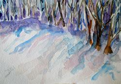 Art: Winter Shadows by Artist Delilah Smith