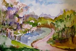 Art: Road to Town by Artist Delilah Smith