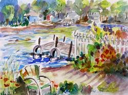 Art: By the Lake-SOLD by Artist Delilah Smith
