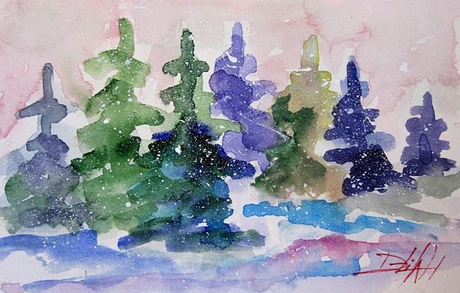Art: Snowy Pines by Artist Delilah Smith