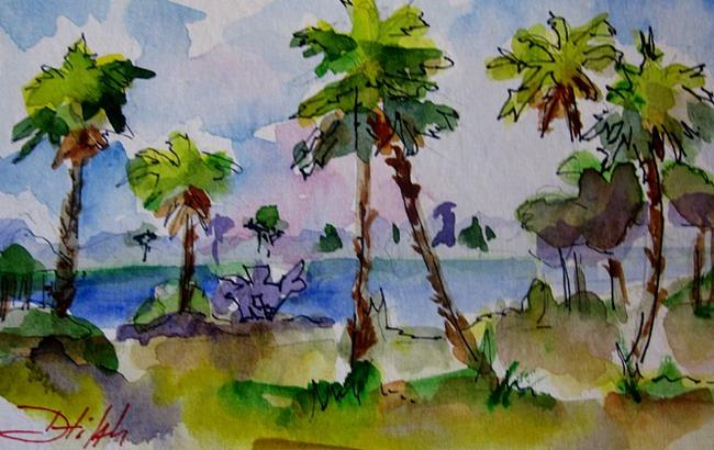 Art: Tropical Pams by Artist Delilah Smith