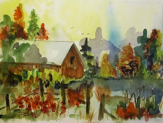 Art: Barn in the Woods by Artist Delilah Smith