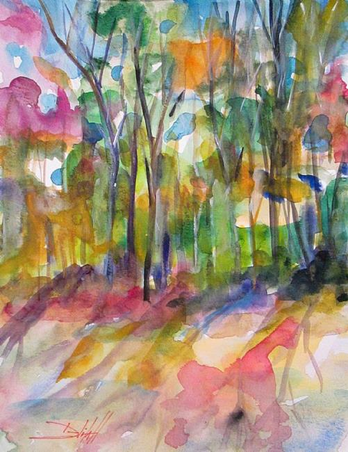 Art: Woodland Colors by Artist Delilah Smith