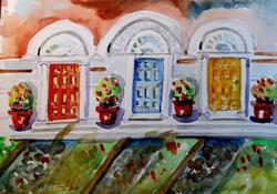 Art: Red Door,Blue Door,Yellow Door-SOLD by Artist Delilah Smith