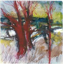 Art: paesaggio toscano 6   cm28x28 by Artist Alessandro Andreuccetti