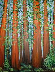 Art: Rapturous Redwoods by Artist Lindi Levison