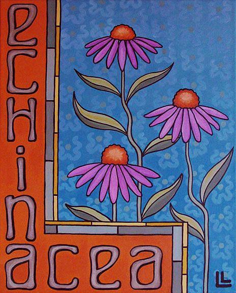 Art: Echinacea by Artist Lindi Levison